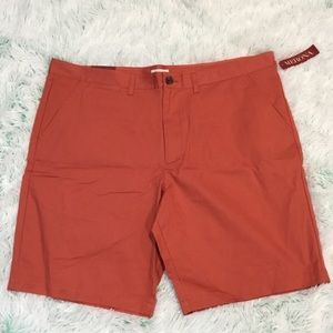 Merona flat front divine red shorts men's 44 NWT
